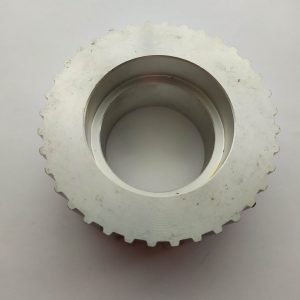 Aluminum gear with timing tape OD 110 ID 60 step 10mm Width 45mm