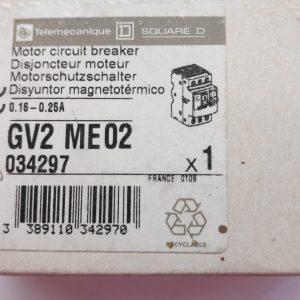 GV2 ME02 0,16 - 0,25A Telemecanique Motor circuit breaker (034297)
