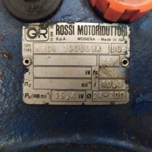 ROSSI MOTORIDUTTORI MRCI 100 UO3A 15.4kW GEAR DRIVE GEARBOX WORMDRIVE i=10,3 USED