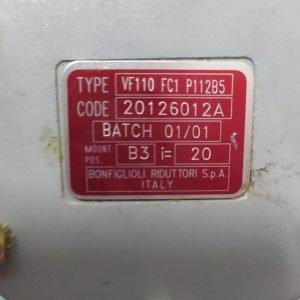 BONFIGLIOLI Gearbox VF110 FC1 P11285 i=20
