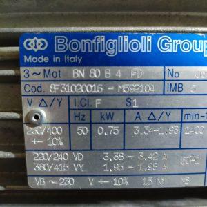 Bonfiglioli BN 80 B4 FD 750W 1400Rpm