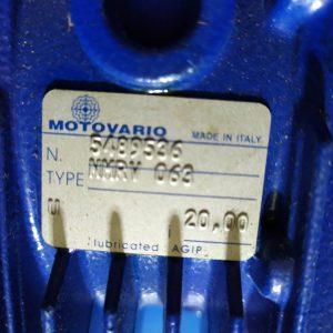 MOTOVARIO GEARBOX NMRV063 i=20