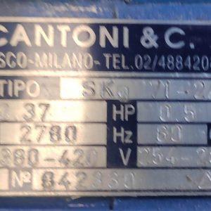 Cantoni MOTOR Skg 71-2A 0.37 KW - 1370 RPM
