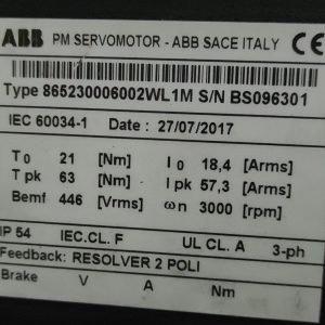 ABB PM Servomotor Type 865230006002WL1M (Resolver)
