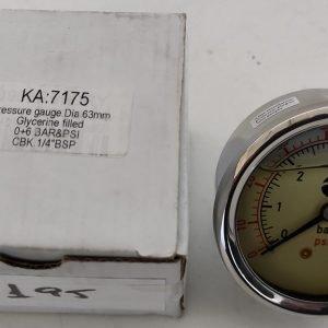 Glycerine Filled Control Pressure Gauges 0-6 bar